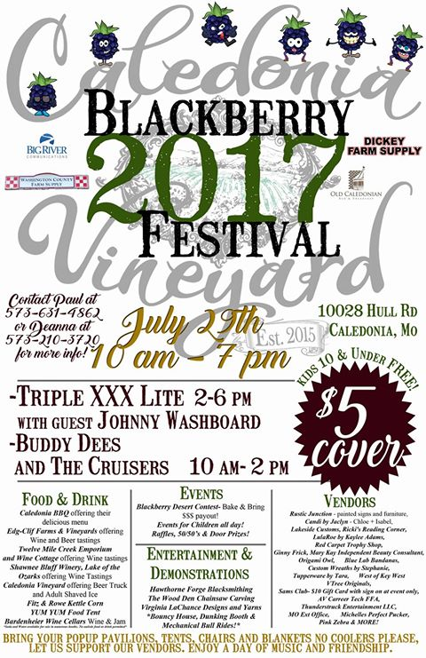 Flyer for Caledonia Blackberry Fest