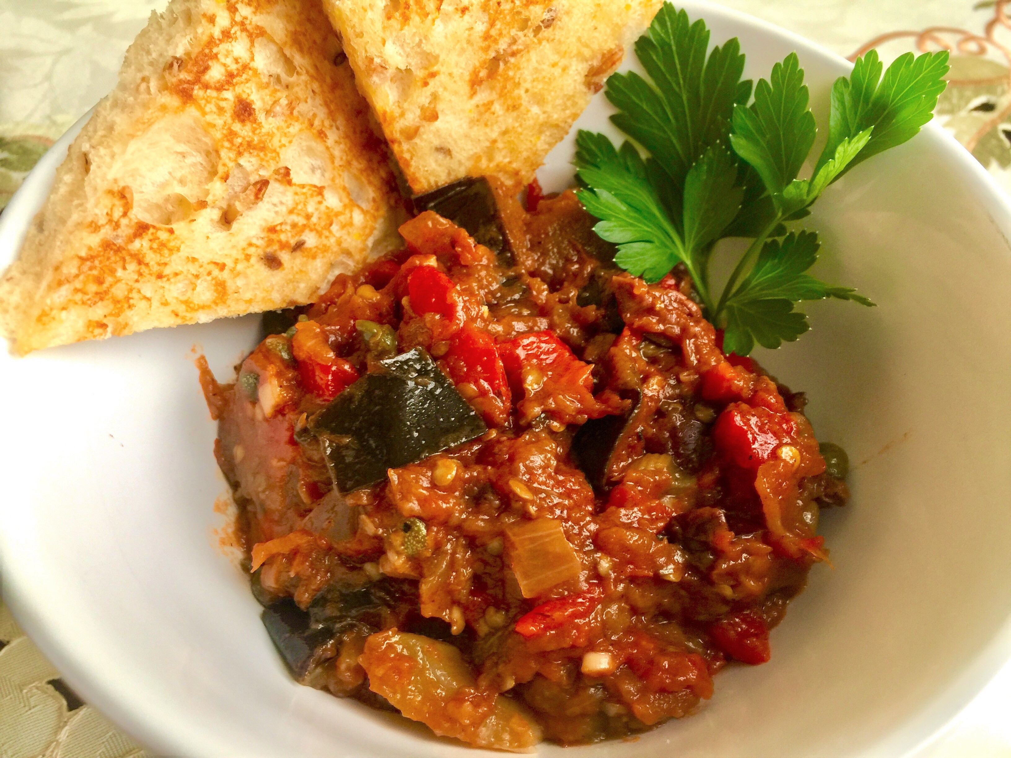 Bowl of Eggplant Caponata