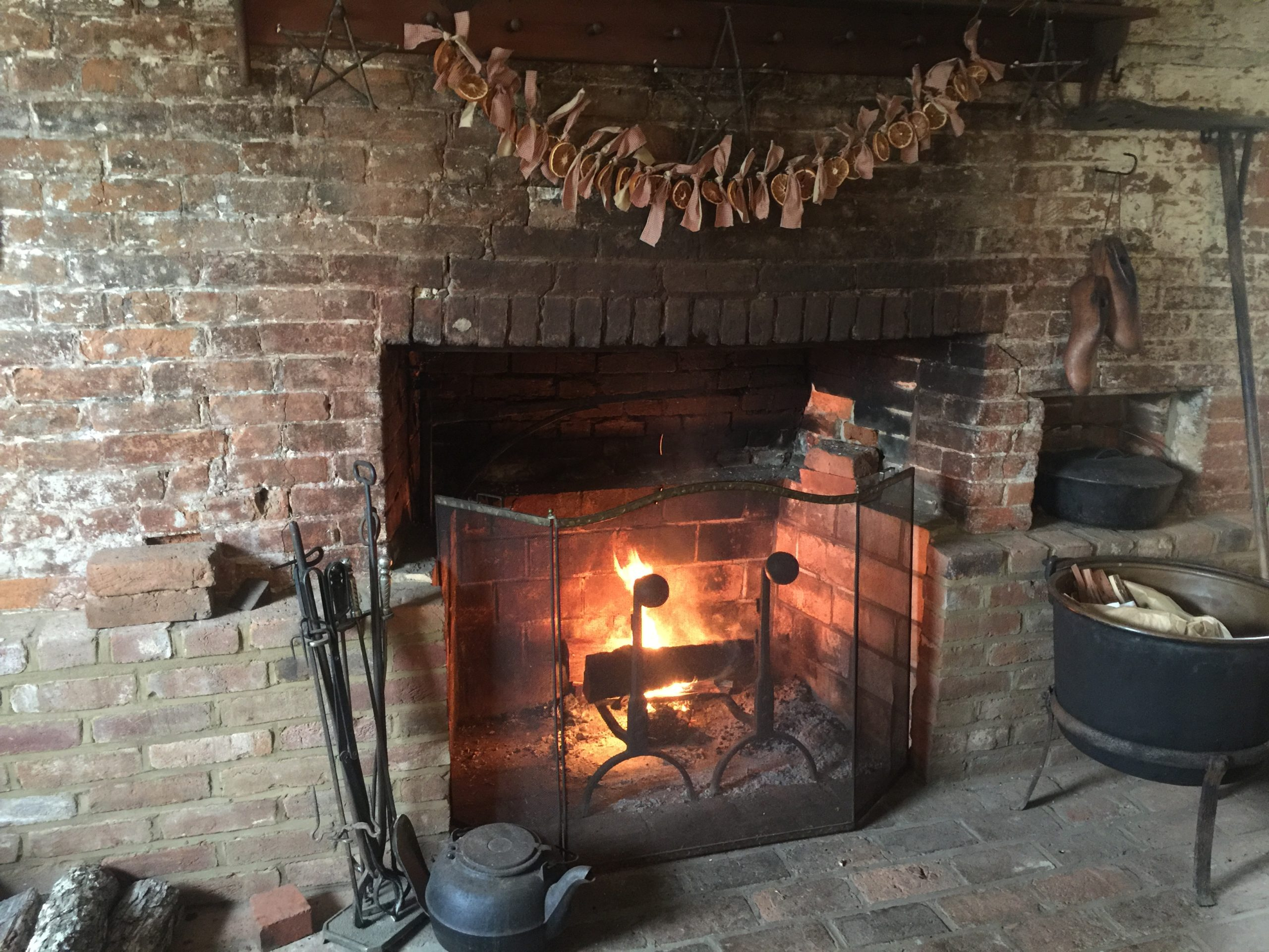 The antique fireplace at the Old Caledonian B&B