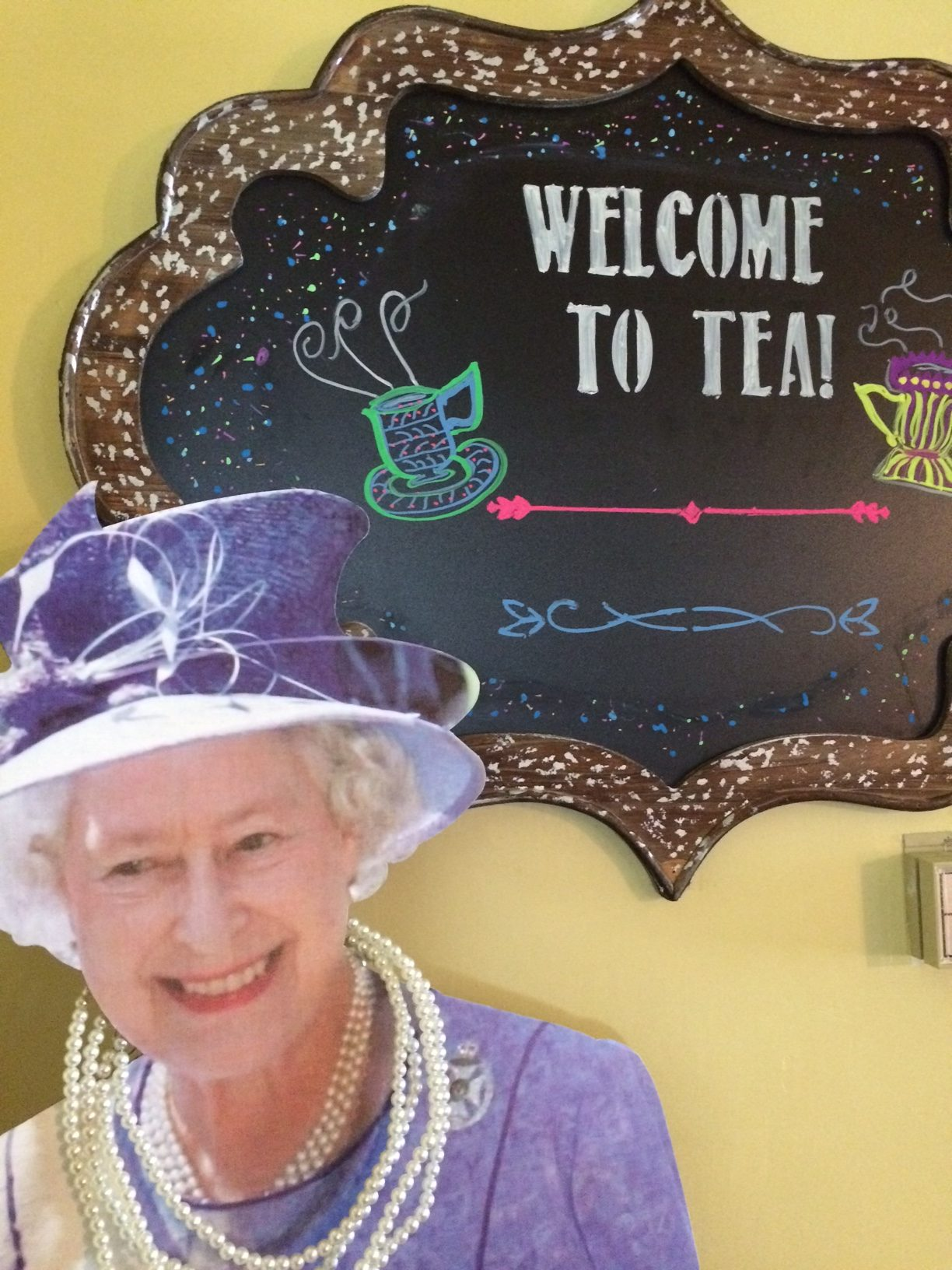 Liz loves teatime!