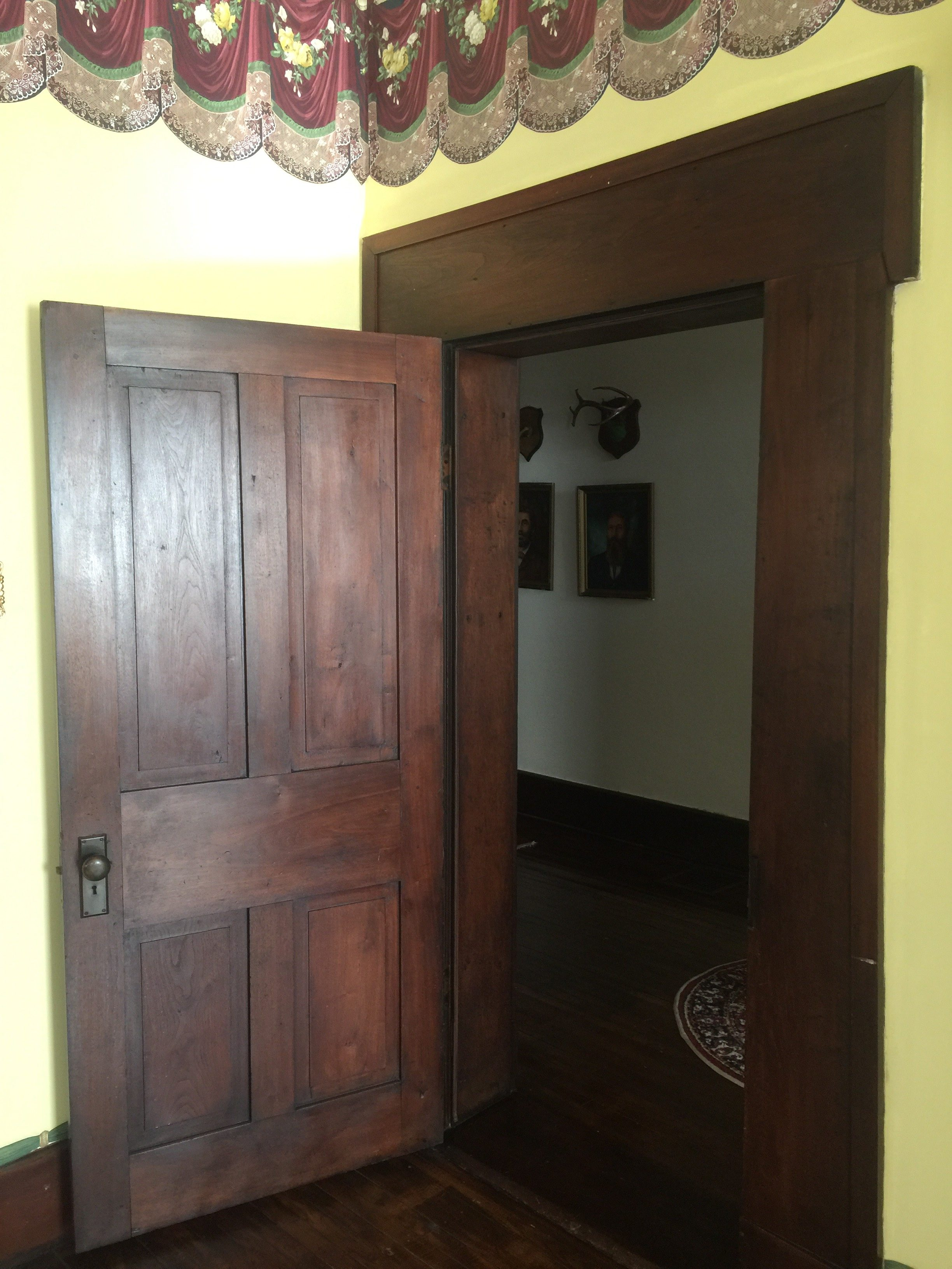 Black walnut wood trim. The wood is original to the house and the property!