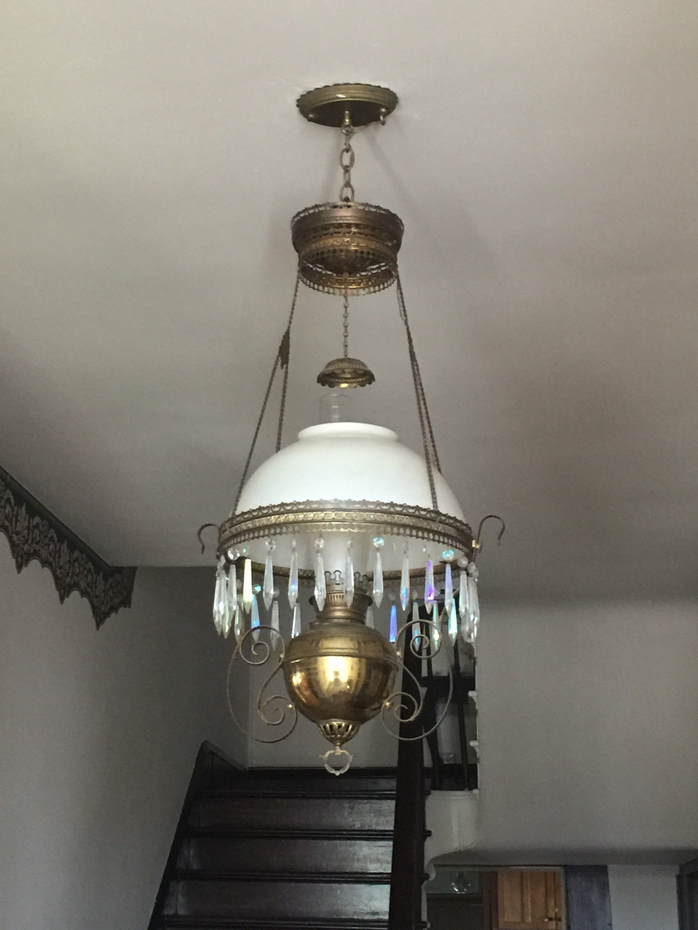 One of the original (converted) gaslights in the house.
