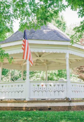 A photo of the OCBB's stately gazebo