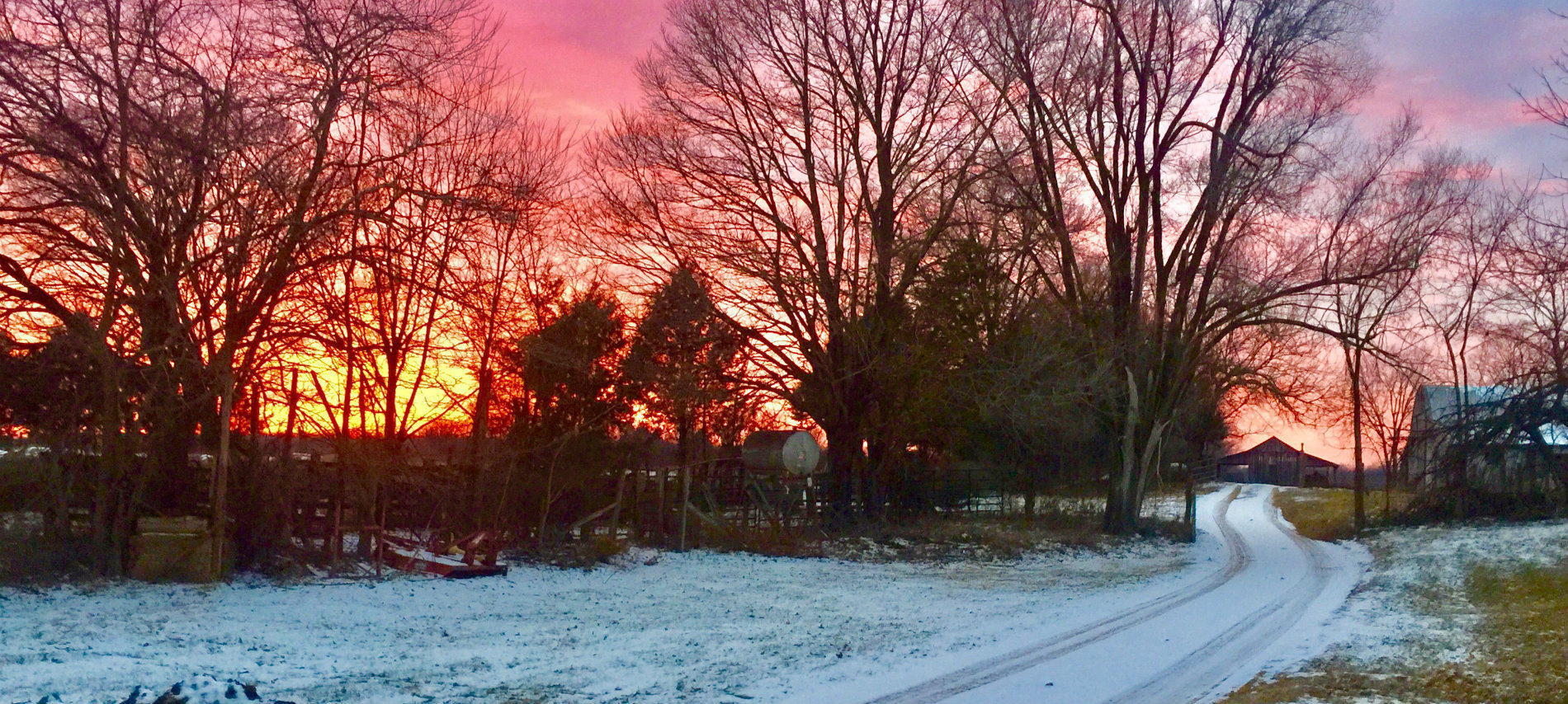 A winter scene in Caledonia. MO